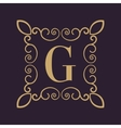 Monogram letter G Calligraphic ornament Gold vector image
