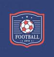 football 2018 logo template set vector image
