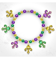Necklace with Fleur De Lis vector image