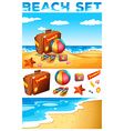 Vacation theme on the beach vector image