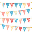 triangle bunting flags vector image