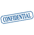 confidential square blue grunge vintage isolated vector image