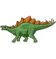 Cartoon stegosaurus isolated on white background vector image