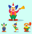 clown cute characters performer carnival actor vector image