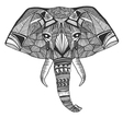 Elephant - hand drawn style vector image