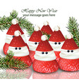 new year card with strawberries candies vector image