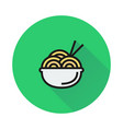 noodle symbol icon on round background vector image