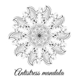 White black mandala vector image
