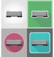 railway transport flat icons 09 vector image