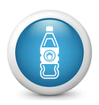 blue glossy icon vector image vector image