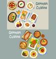 german cuisine festive dinner icon set design vector image vector image