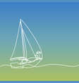continuous line drawing of paper boat vector image vector image
