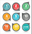guarantee stickers modern design collection 2 vector image