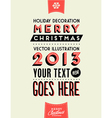 Retro Vintage Merry Christmas Tin Sign vector image vector image