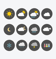 Weather Icons Simple Flat vector image