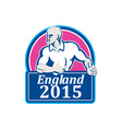 Rugby Player Running Ball England 2015 Retro vector image