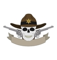Wild west sheriff emblem vector image