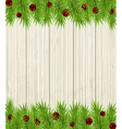 Wooden Christmas background vector image