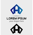 Letter H logo icon design template vector image