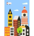 Background of the city vector image