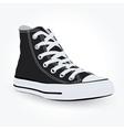 black sneaker vector image