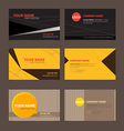 Business Name card set 2 vector image