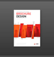 company brochure cover design layout vector image