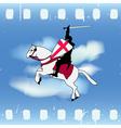 Film Knight vector image