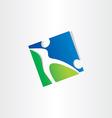 footballer shooting ball soccer icon vector image
