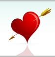 Heart shape with arrow vector image