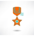 Medal icon vector image