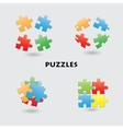 puzzle vector image
