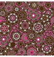 Seamless oriental ornamental pattern laced vector image