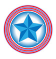symbol of the us flag the star in the circles vector image