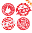 Stamp sticker exclusive collection - - EPS1 vector image