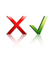 Check marks Yes or No vector image