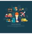 Worldwide logistics operations concept flowchart vector image