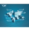 World map with pointer marks - communication vector image