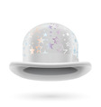 White starred bowler hat vector image vector image