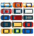Top view of cars and trucks vector image