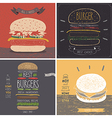 Burger cards - Hand drawn style vector image