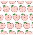 Colorful seamless pattern with apples on the white vector image