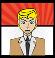 comic man angry pop art vector image