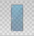 glass door isolated on grey background vector image