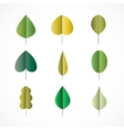 Green leaves simple icons vector image