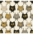 Owl seamless pattern background vector image