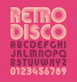 retro style alphabet and numbers vector image