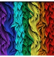 Waves Gradient Color Rainbow vector image