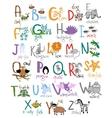 Zoo alphabet vector image