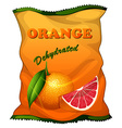 Bag of dehydrated orange